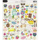 "Pebbles Jen Hadfield My Bright Life 6""x12"" Accent Stickers 2 sheets 733882"