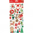 "Pebbles Cozy & Bright 6""x12"" Christmas Accent Stickers 2 sheets 733929"