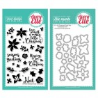 Avery Elle Christmas Florals Clear Stamp & Die Set