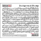 Darkroom Door Sheet Music Rubber Background Stamp with cling foam - DDBS023