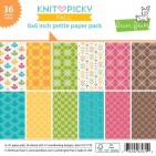 "Lawn Fawn Knit Picky Fall 6""x6"" Petite Paper Pack 36 Sheets LF1732"