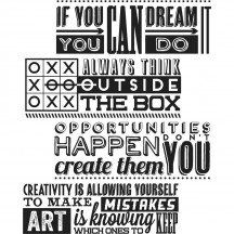 Tim Holtz Motivation 1 Cling Mount Sets Collection from Stampers Anonymous CMS289