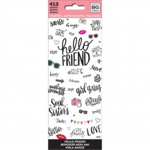 Me & My Big Ideas The Happy Planner Hello Friend Value Pack Stickers PPSM-05