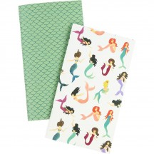 Echo Park Traveler's Notebook Mermaid Daily Calendar Inserts TNME1003