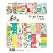"""Simple Stories Hello Summer 6""""x8"""" Double-Sided Paper Pad 10151"""