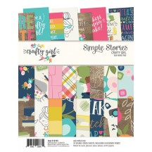 "Simple Stories Crafty Girl 6""x8"" Double-Sided Paper Pad 10195"
