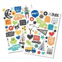 Simple Stories Lil Dude Puffy Stickers 10241