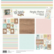 """Simple Stories Oh, Baby! Expecting 12""""x12"""" Simple Sets Collection Kit 10247"""