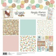 """Simple Stories Oh, Baby! Adoption 12""""x12"""" Simple Sets Collection Kit 10252"""