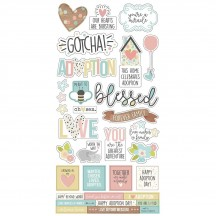 """Simple Stories Simple Sets Oh Baby Adoption 6""""x12"""" Fundamentals Element Cardstock Stickers 10253"""