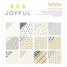 "My Mind's Eye Joyful 6""x6"" Double-Sided Christmas Paper Pad JYF109"