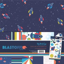 """My Mind's Eye Blast Off 12""""x12"""" Double-Sided Paper & Accessories Kit BST110"""