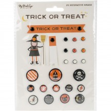 My Mind's Eye Trick Or Treat Decorative Halloween Brads HLW111