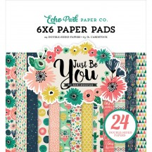 "Echo Park Just Be You 6""x6"" Double-Sided Paper Pad 24 Sheets JBY119023"