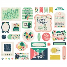 Echo Park Just Be You Ephemera Die Cut Cardstock Pieces JBY119024