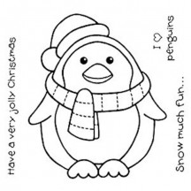 Woodware Chubby Penguin Christmas Stamp Set FRS120