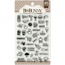 Bo Bunny Everyday Icons Clear Stamp Set 12105030