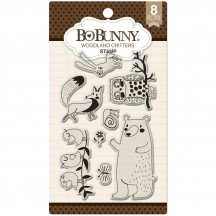 Bo Bunny Woodland Critters Clear Stamp Set 12105080