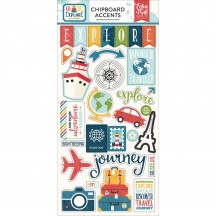 Echo Park Go See Explore Self Adhesive Chipboard Shape Stickers GEX127022
