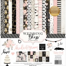"""Echo Park Wedding Bliss 12""""x12"""" Collection Kit WB129016"""