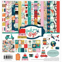 """Carta Bella Pack Your Bags 12""""x12"""" Collection Kit PYB86016"""
