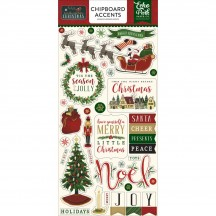 Echo Park Twas The Night Before Christmas Self Adhesive Chipboard Shape Stickers TNC134022