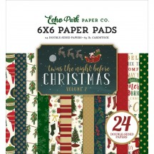 """Echo Park Twas The Night Before Christmas Volume 2 6""""x6"""" Double-Sided Paper Pad 24 Sheets TNC134026"""