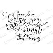 Impression Obsession Loving You More Cling Rubber Stamp D13503