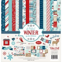 """Echo Park A Perfect Winter 12""""x12"""" Christmas Collection Kit APW136016"""