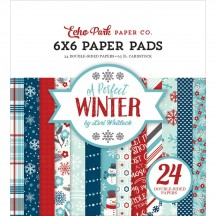 """Echo Park A Perfect Winter 6""""x6"""" Double-Sided Christmas Paper Pad 24 Sheets APW136023"""