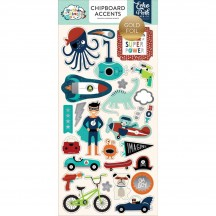 Echo Park Imagine That Boy Self Adhesive Chipboard Shape Stickers ITB147021