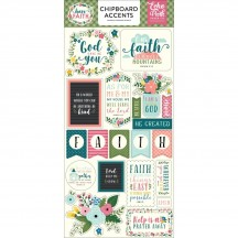 Echo Park Have Faith Self Adhesive Chipboard Shape Stickers HAF152021
