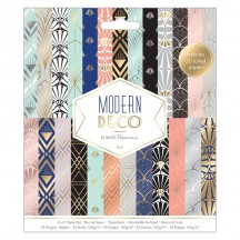 """doCrafts Papermania Modern Deco 6""""x6"""" Paper Pack 160278"""
