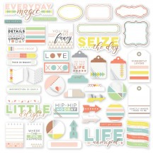 Pinkfresh Studio Live More Die-Cut Cardstock Pieces PFRC200617