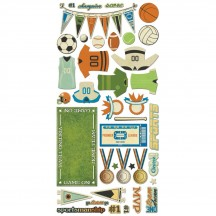 Bo Bunny Game On! Noteworthy Die-Cut Journaling & Accents Cardstock 21213940