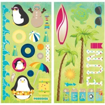 "Bo Bunny Make A Splash 12""x12"" Self Adhesive Chipboard Accents 21415991"