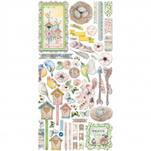 Bo Bunny Serendipity Noteworthy Die-Cut Journaling & Accents Cardstock 21713067