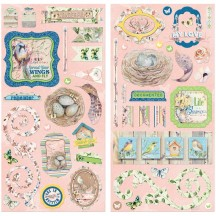 """Bo Bunny Serendipity 12""""x12"""" Self Adhesive Chipboard Accents 21715065"""