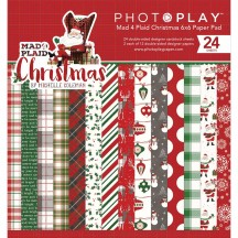 "Photoplay Mad 4 Plaid Christmas 6""x6"" Double-Sided Paper Pad MPC2877"