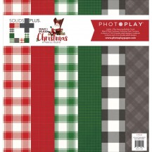 """Photoplay Mad 4 Plaid Christmas 12""""x12"""" Solids Plus Collection Pack MPC2890"""