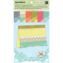 K&Co Sweet Nectar Die-cut Cardmaking Pad - Scroll