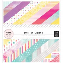 "Pink Paislee Summer Lights 6""x6"" Single-Sided Paper Pad - 36 Sheets 310266"