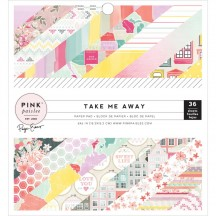 "Pink Paislee Paige Evans Take Me Away 6""x6"" Single-Sided Paper Pad - 36 Sheets 310399"