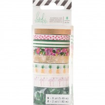 Heidi Swapp Memory Planner Fresh Start Tropical Washi Tape Rolls 313930