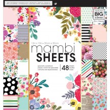 """Me & My Big Ideas Botanicals 12x12"""" Mambi Sheets Specialty Cardstock Pad PADX314"""