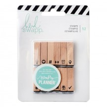 Heidi Swapp Memory Planner Wooden Icons Stamps 315128