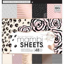 """Me & My Big Ideas Rose Gold 12x12"""" Mambi Sheets Specialty Cardstock Pad PADX316"""