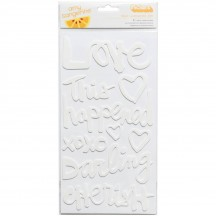 American Crafts Amy Tangerine Finders Keepers White Foam Phrase Thickers 340234