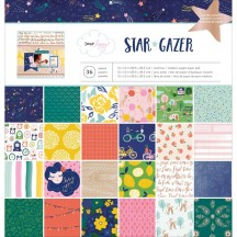 "American Crafts Dear Lizzy Star Gazer 12""x12"" Paper Pad 48 Sheets 343425"