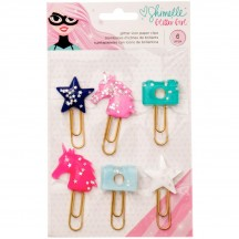 American Crafts Shimelle Glitter Girl Glitter Icon Paper Clips 343671